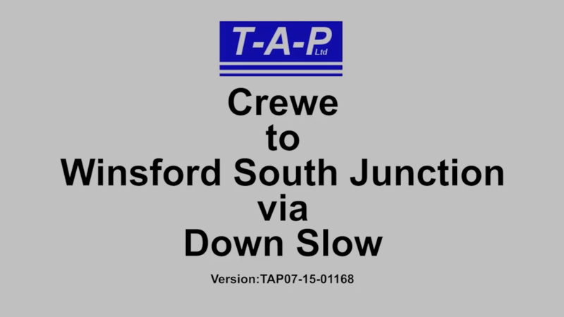 CREWE TO WINSFORD SOUTH JUNCTION VIA DOWN SLOW FILM