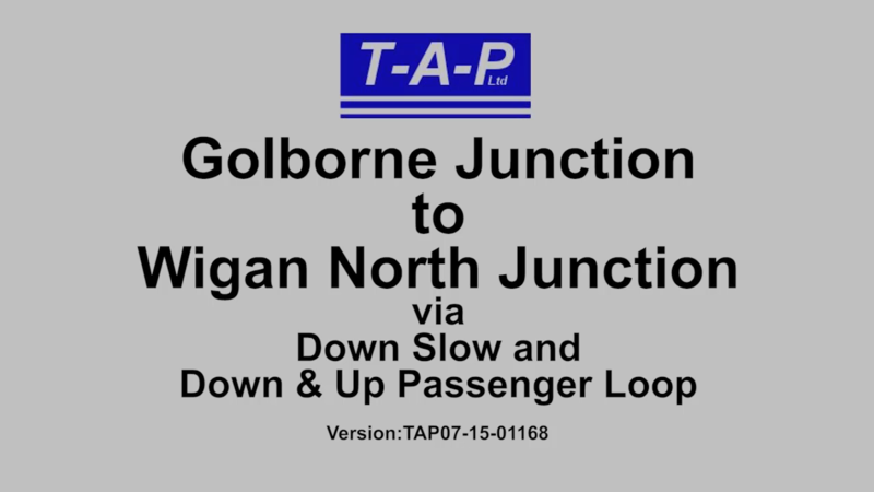 GOLBORNE JUNCTION TO WIGAN NORTH JUNCTION VIA DOWN SLOW AND DOWN & UP PASSENGER LOOP FILM