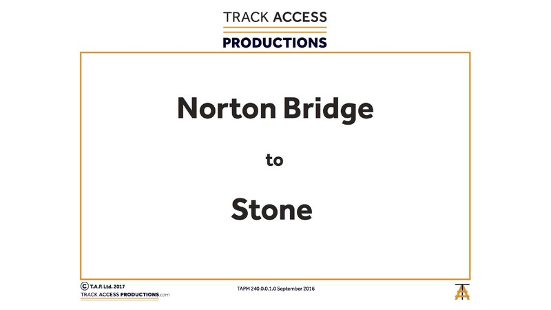 NORTON BRIDGE TO STONE MAP