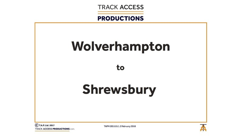 WOLVERHAMPTON TO SHREWSBURY MAP